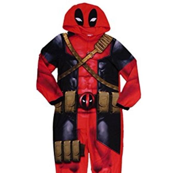 Marvel Intimates Amp Sleepwear Deadpool Onesie Xl Costume